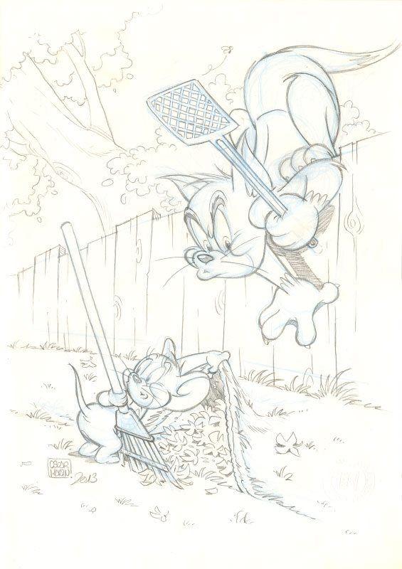 Portada para la revista Tom & Jerry de la editorial Egmont