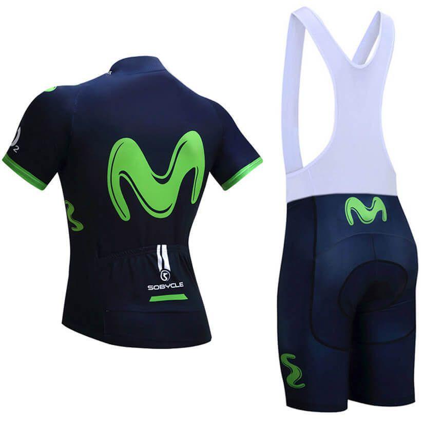 2018 Team Movistar Pro Cycling Kits Dark Blue Green  51cdc8417