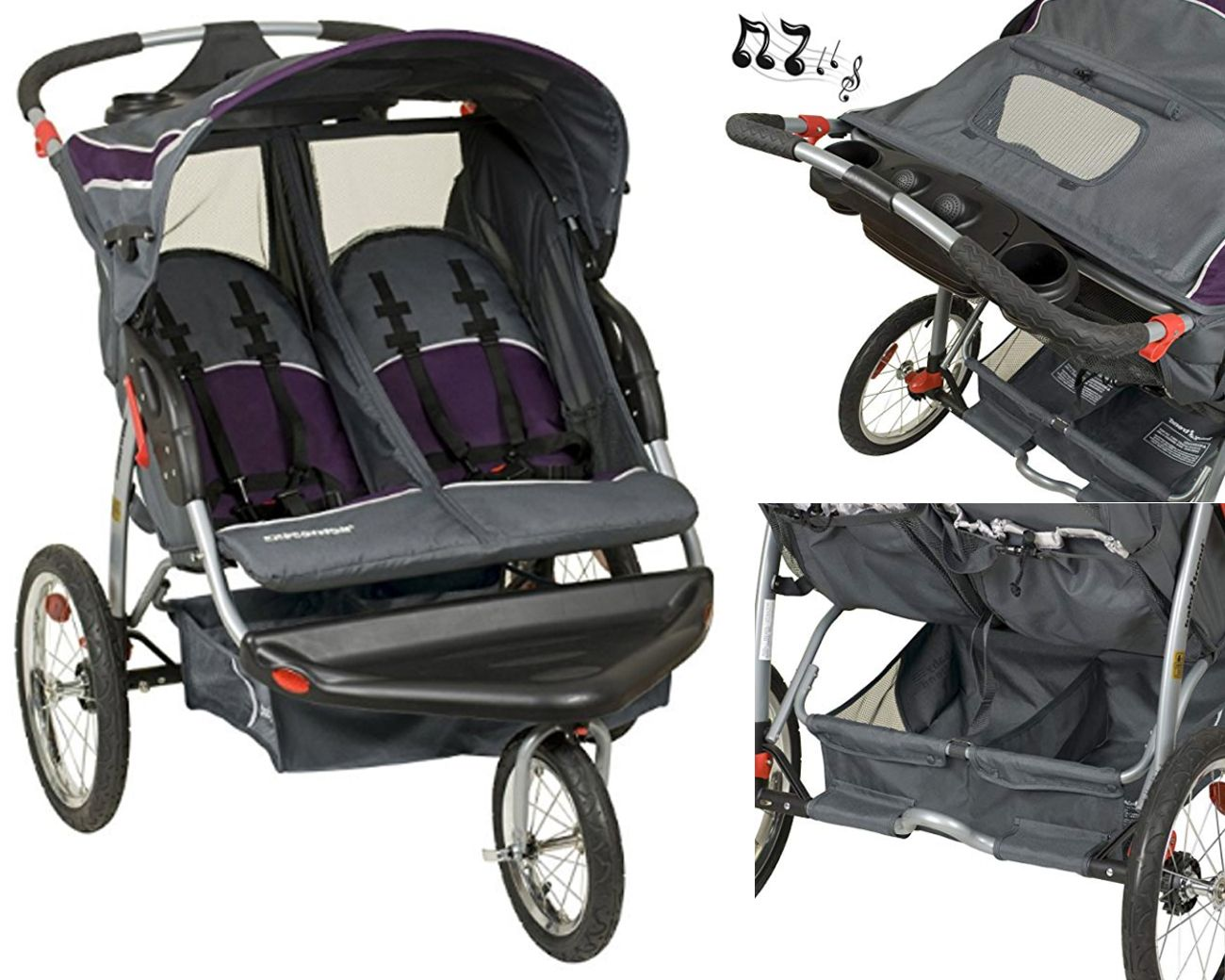 Baby Trend Expedition Double Jogger, Elixer Lockable front