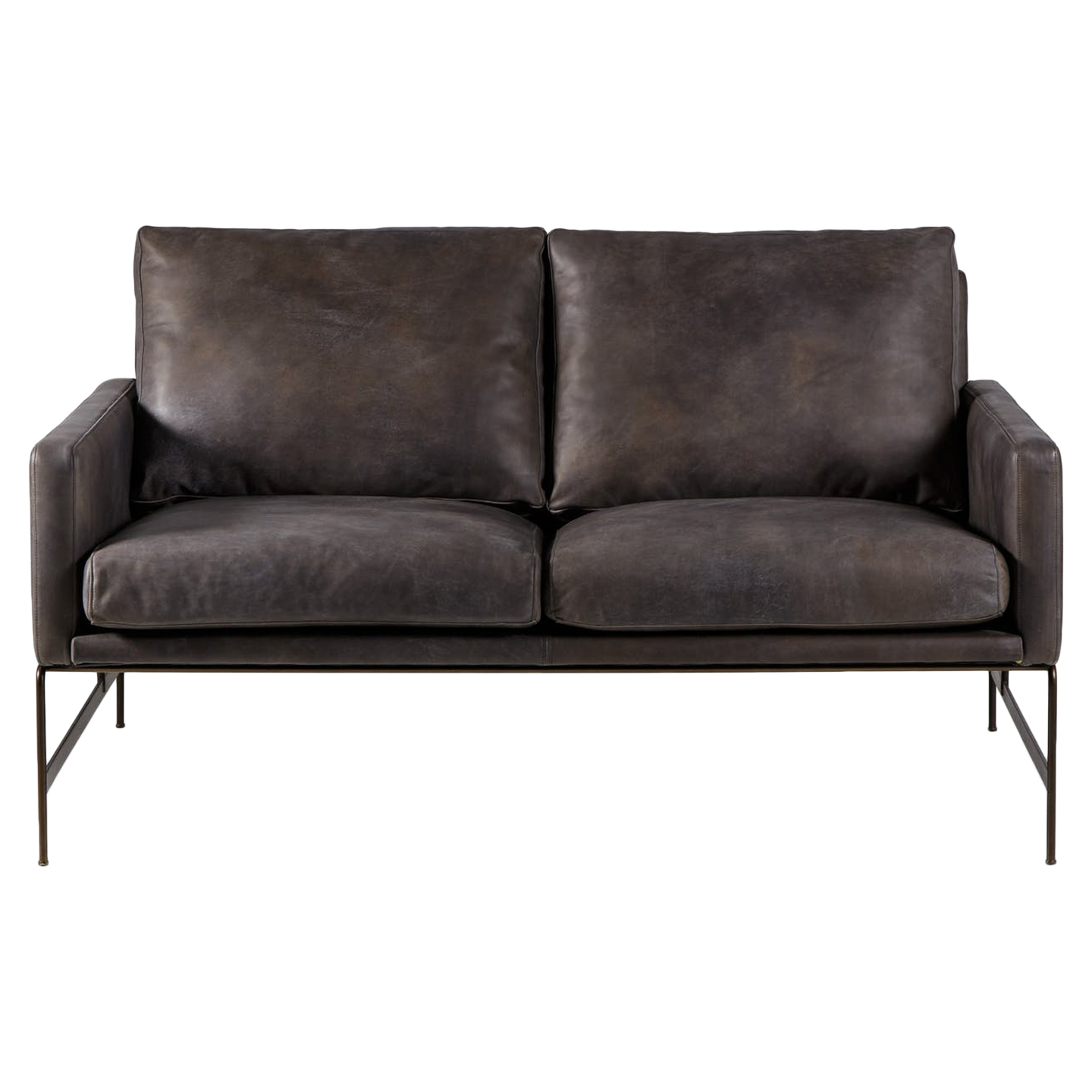 Vanessa 2 Seater Sofa - Destroyed Black Leather in 2019 ...