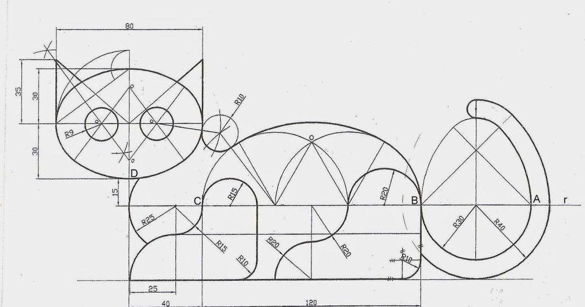 Instrucciones Para Realizar La Lamina Curvas Tecnicas Gato Preparacion 1 Lamina Din A3 E Ejercicios De Dibujo Tecnicas De Dibujo Dibujos En Autocad
