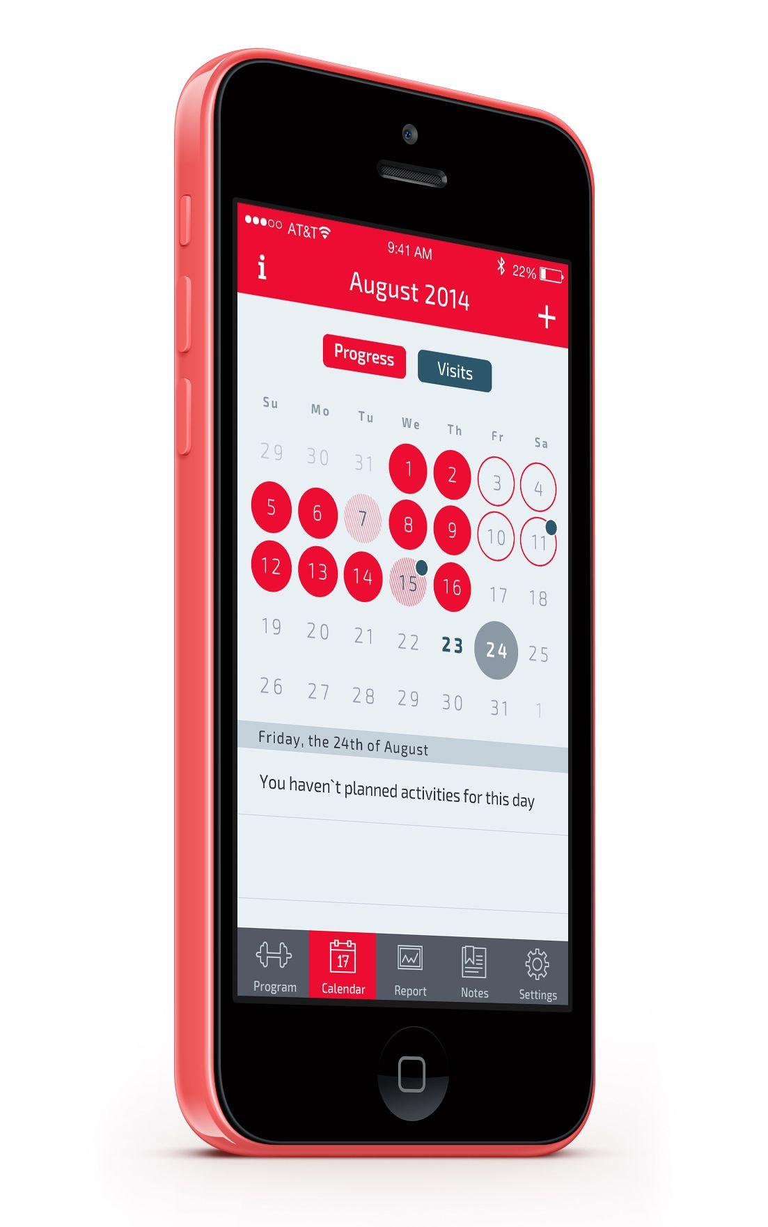 Progress Calendar Zhanna Krivich Calendar App Calendar