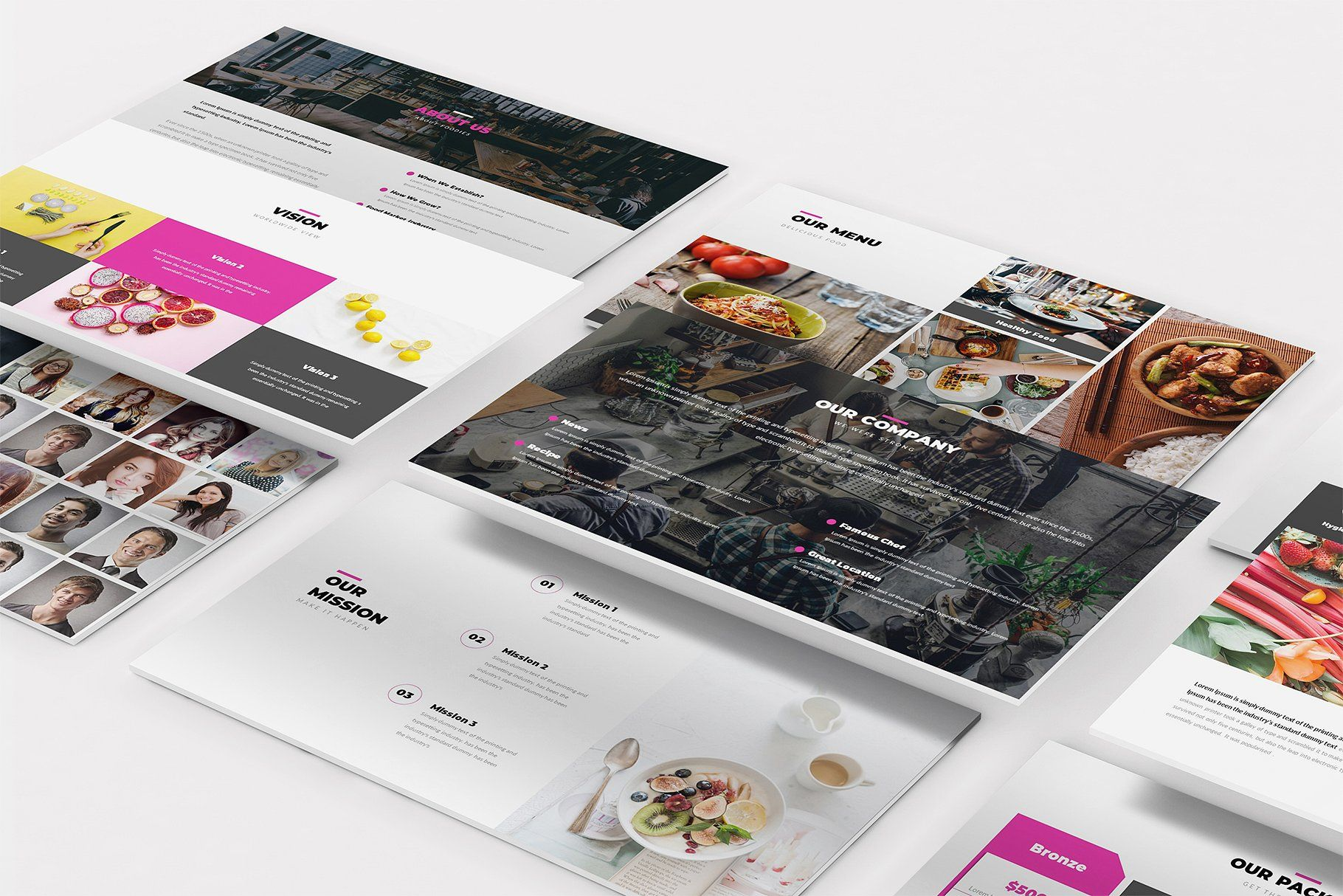 Foodie Duddie Google Slides Template #business#Created#stand
