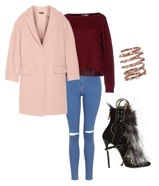 """""""Date night"""" by tyra-breann on Polyvore featuring Dsquared2, Topshop, Gazel, DKNY and Plukka"""