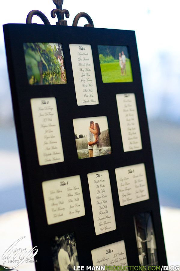 The couple used  multi photo frame for their table seating personally  just love this displaying photos maybe quotes also rh pinterest