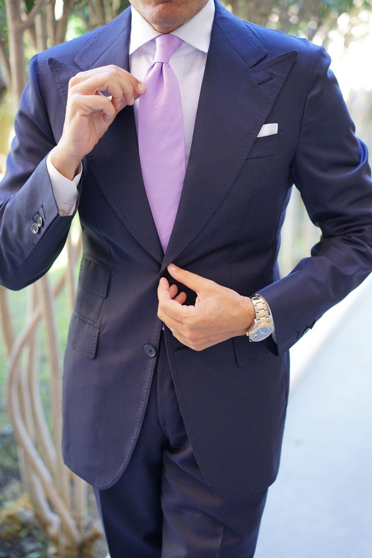 Lilac Purple Cotton Necktie Tie Ties Thick Wide Normal Neckties En 2020 Vestir Elegante Hombre Ropa Elegante Trajes Caballero