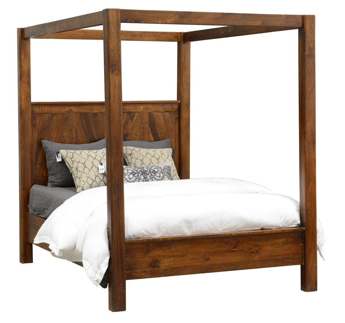 Create New Customer Account Wood Canopy Bed Classic Home