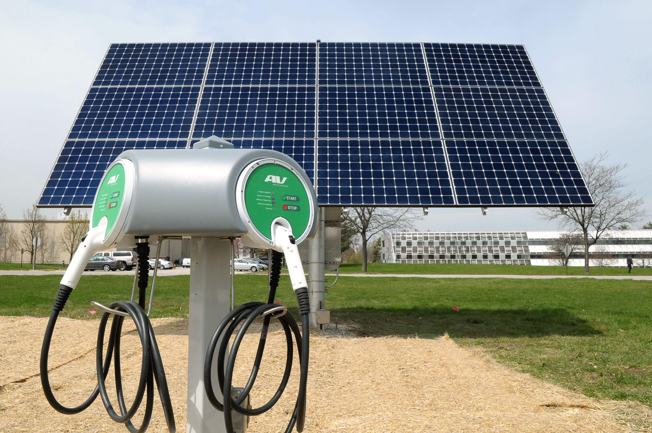 Hybrid Electric Car Charging Station