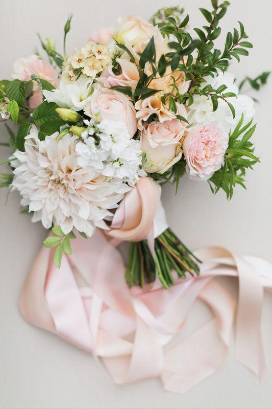 Bridal Bouquet With Cafe Au Lait Dahlias Garden Roses Ranunculus And Fragrant Stock By Flyi Peach Wedding Flowers Dahlia Bridal Bouquet Fall Wedding Bouquets