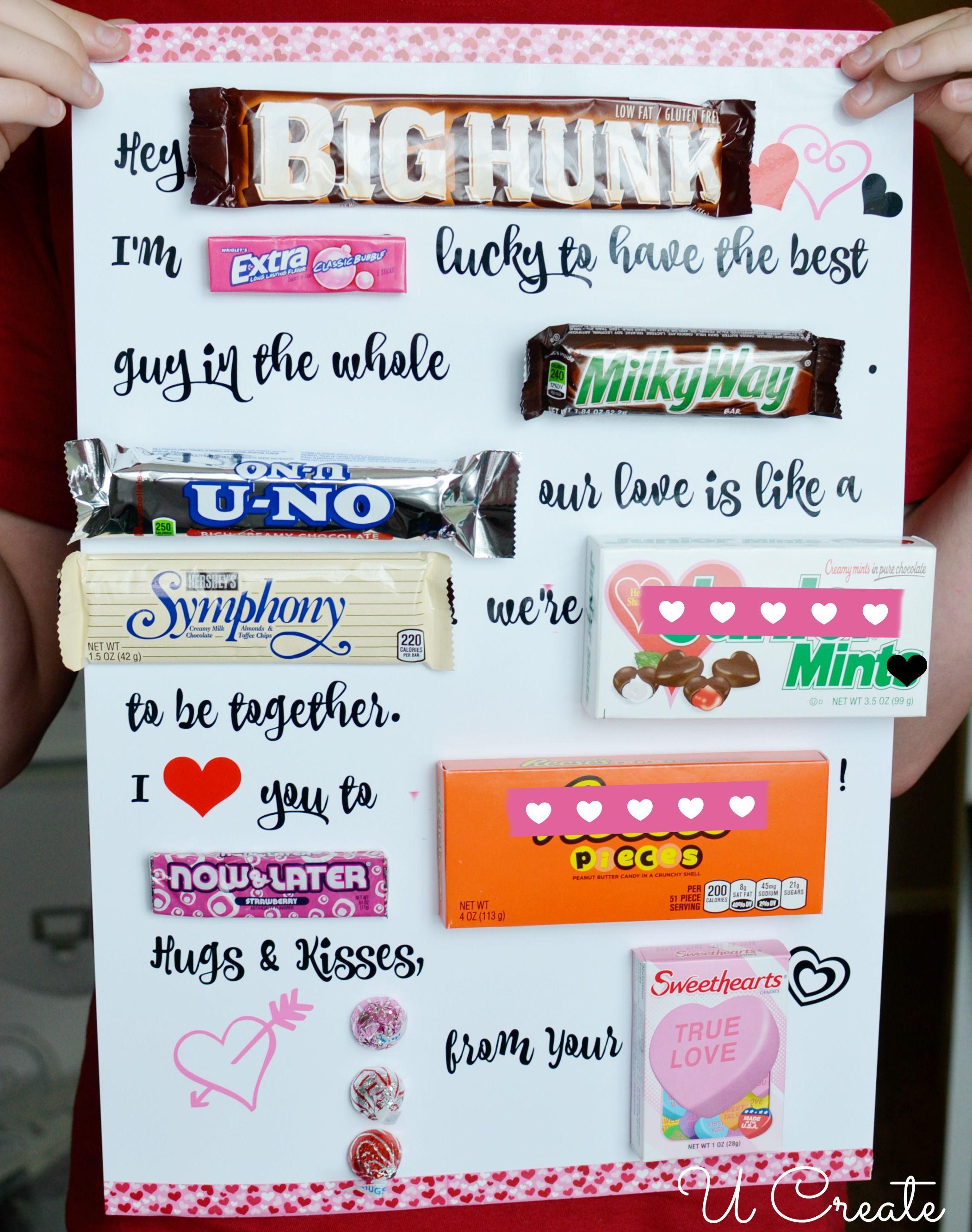 Candy Poster Valentine Printable - U Create  #crafting #valentine #EndlessInspirations