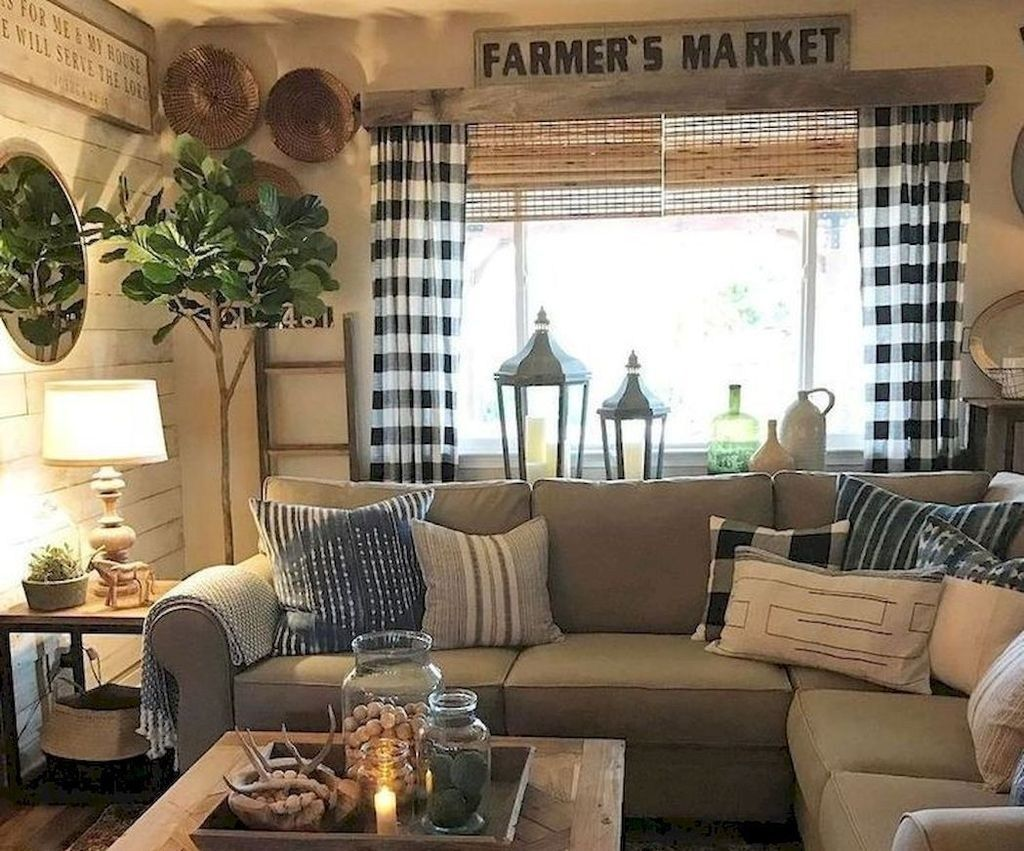 44 Best Farmhouse Living Room Makeover Decor Ideas Salons De