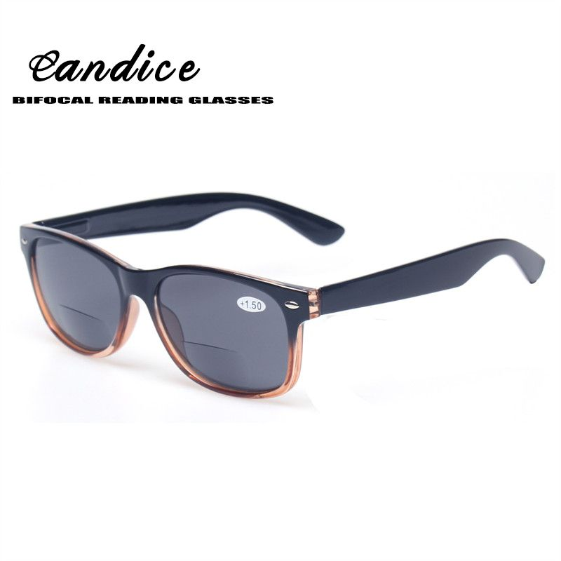60ecd8edd9 Bifocal Reading Glasses Grey Lens Fashion Men and Women Spring Hinge ...