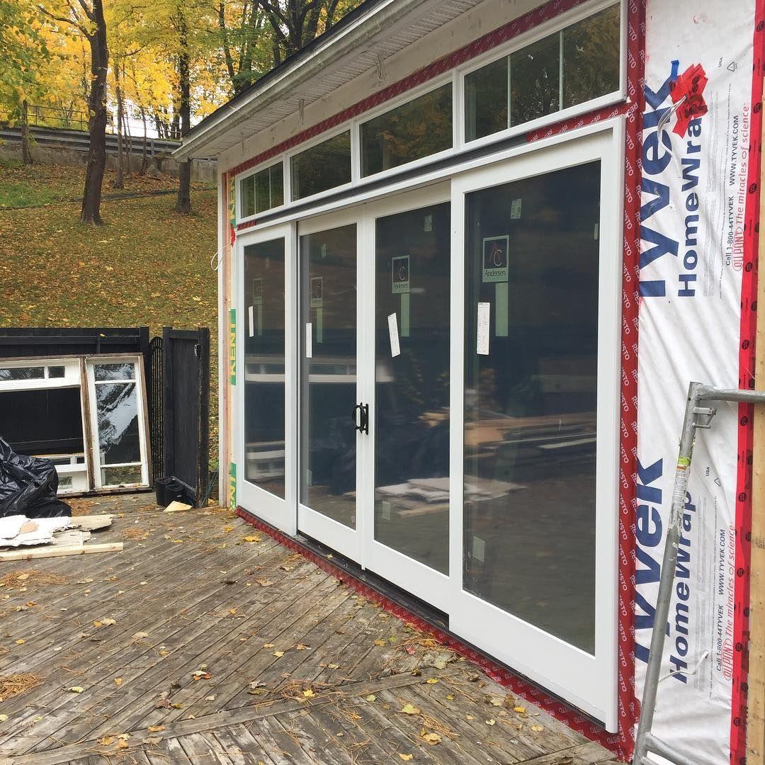 Andersen E Series Triple Glaze 16 X 8 Gliding Patio Door Installed By Our Friends At In 2020 Patio Door Installation Andersen Sliding Patio Doors Sliding Patio Doors
