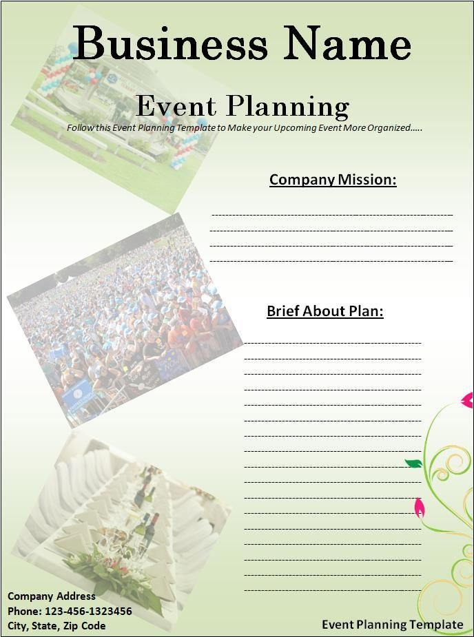 Event Planning Template wordstemplates Pinterest Event - event planning format