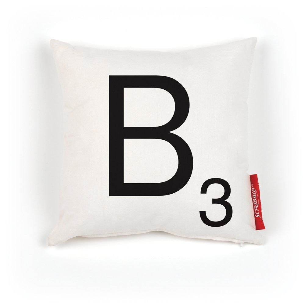 Amazon Com Wild And Wolf Scrabble 100 Percent Polyester Pillow Cover Letter B Home Kitchen Scrabble Pillows Pillows Letter Pillows