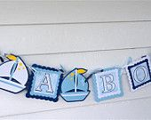 """Nautical """"It's a Boy Banner, Baby Shower Decorations, Gender reveal announcement, Party Supplies, die cuts"""