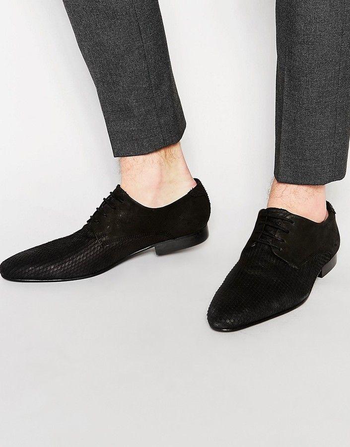 Buy Men Shoes / Asos Derby Shoes In Snakeskin Effect