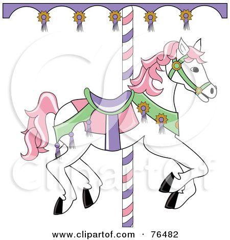 Carnival Amusement Carousel Horse Royalty Free Rf Amusement Park Clipart Illustrations Vector Carousel Horses Carousel Horse Clip Art