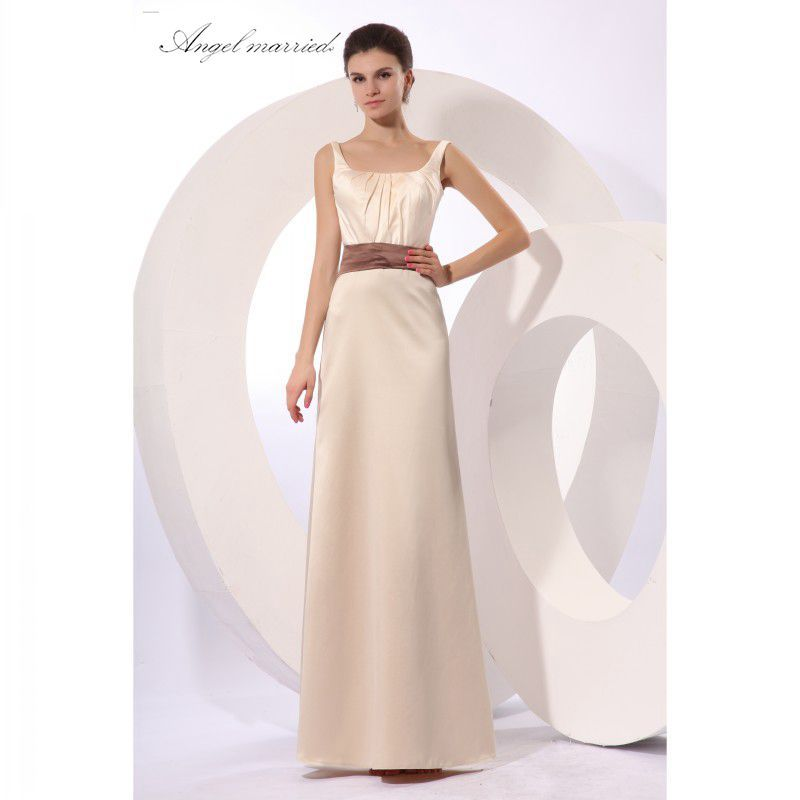 Click to Buy << New Straight Long Prom Dresses 2017 Pleat Belt ...