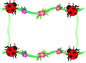 Frame clipart ladybug - Pencil and in color frame clipart ...
