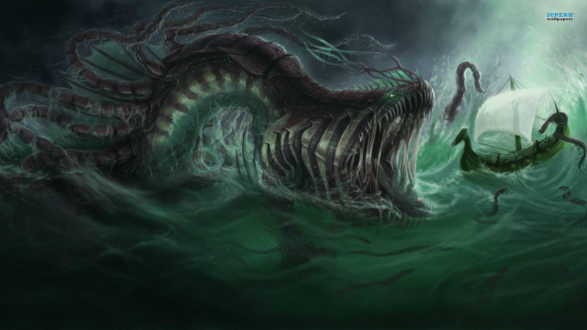 Wallpaper Dump Sea Monsters Monster Pictures Ocean Monsters