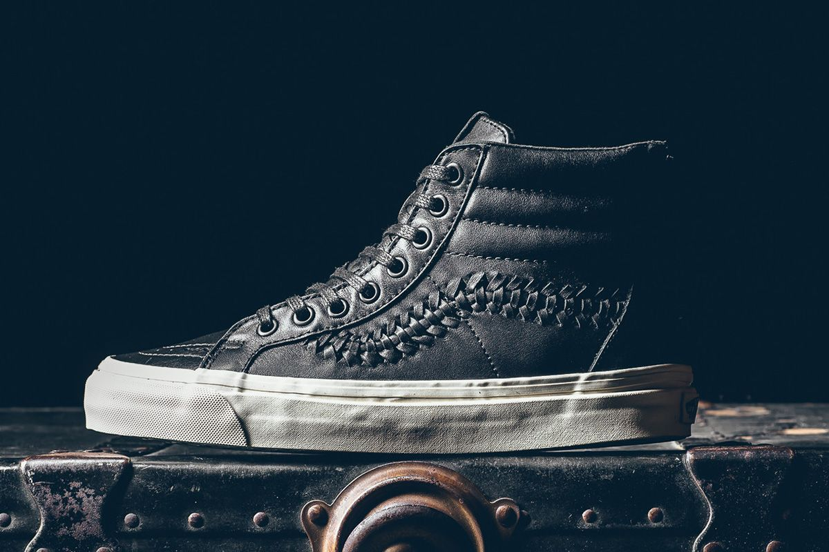 save off c7331 abeb6 A Zipper  amp  Woven Leather Style the Latest Vans Sk8-Hi - EU Kicks