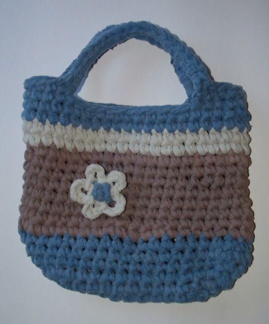 patron-bolso-crochet   Trapillo   Pinterest   Bolsos, Patrones y ...