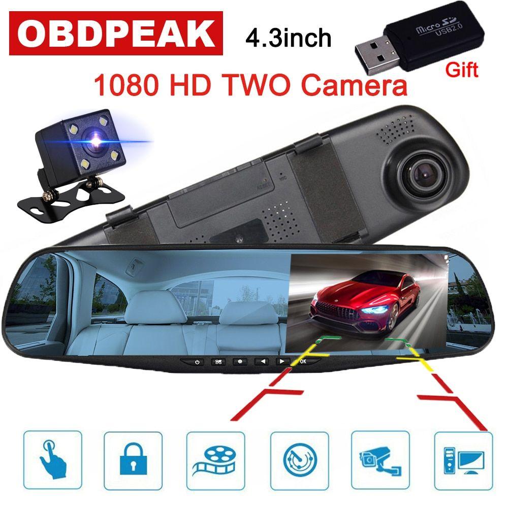 4 Inch Dual Lens Camera HD 1080P Car DVR Vehicle Video Dash Cam Recorder USA @@