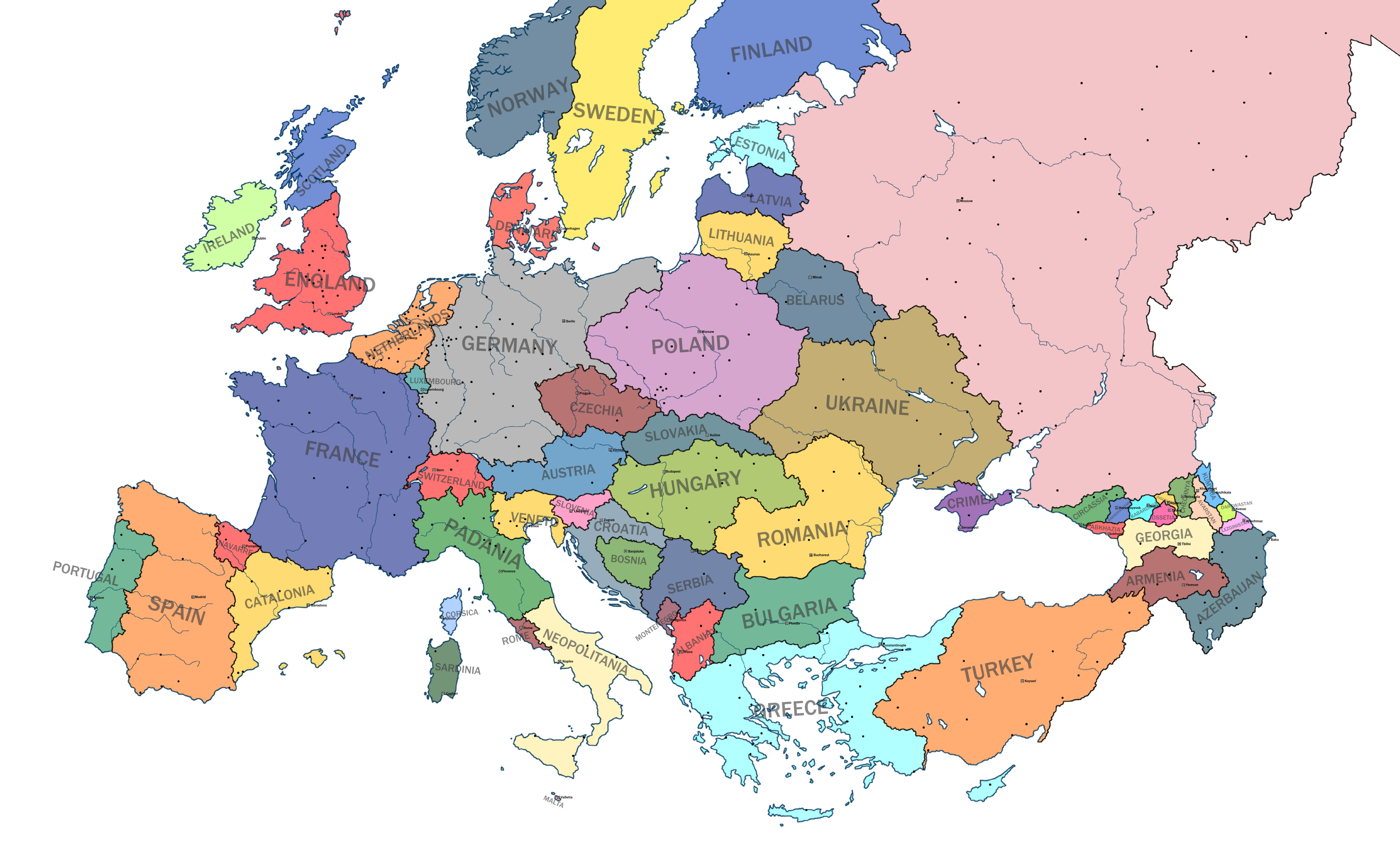 alternate map of europe Map of an Alternate Europe | Historical maps, Europe map, Fantasy map