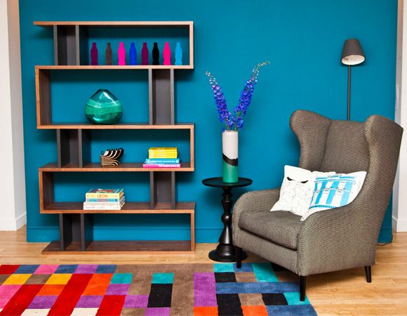 I Love The Bright Colors And Shelves I Love Blue Rooms