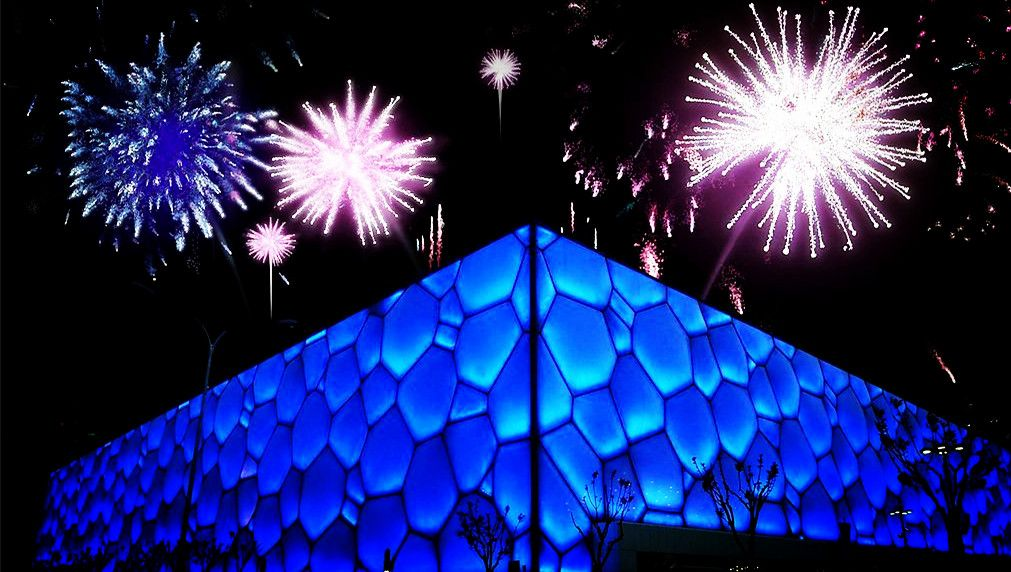 Water Cube and firework, good enough for a concert, have anybody in mind?