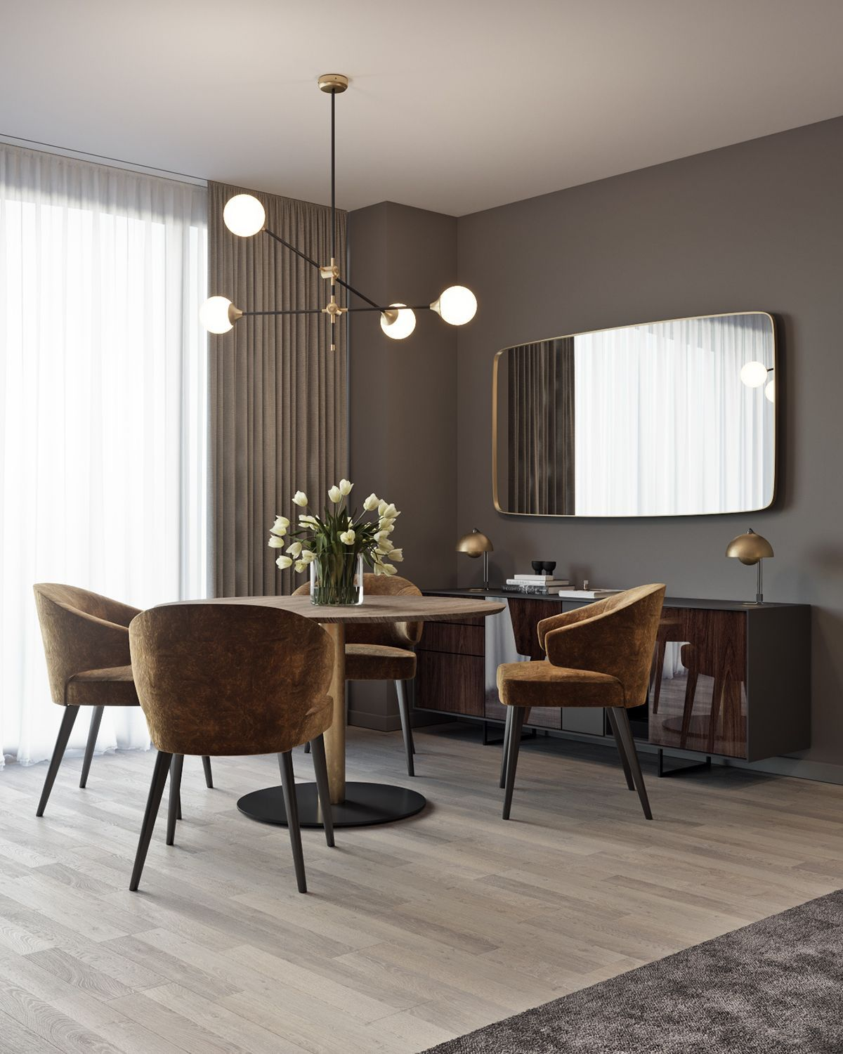 modern dining room wall decor ideas and designs farmhouse kitchen dinning also best apartments images in home design interiors rh pinterest