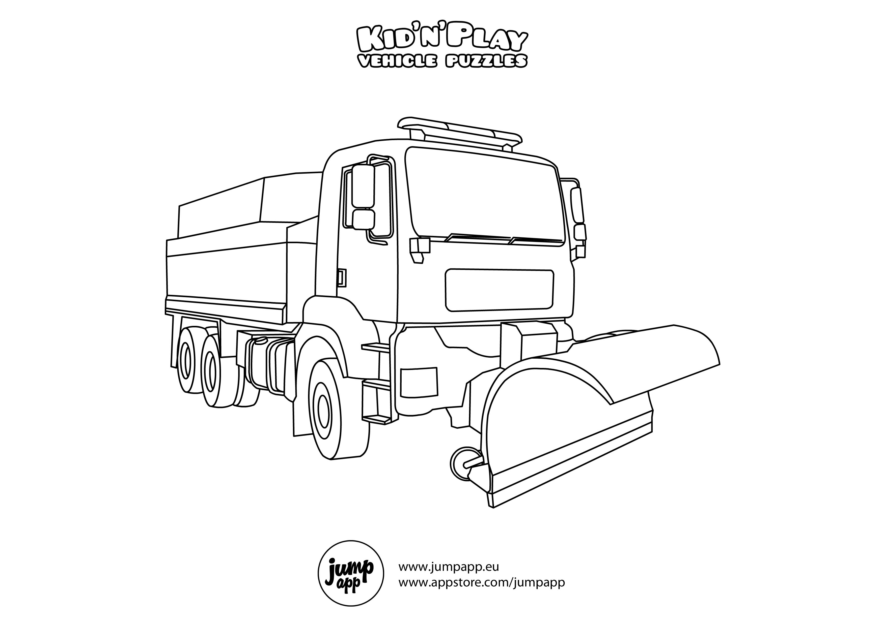 Snow Plow Printable Coloring Pages Coloring Pages Printable