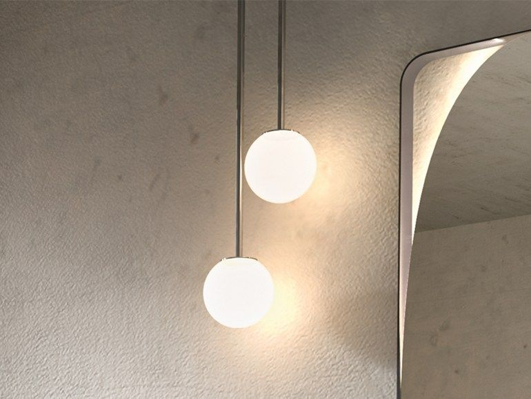 Halogen Chrome Plated Pendant Lamp Ball Up By Edone By Agora Group Pendant Lamp Halogen Pendant Lights Lamp