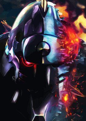 Broken Neon Armor   Displate thumbnail