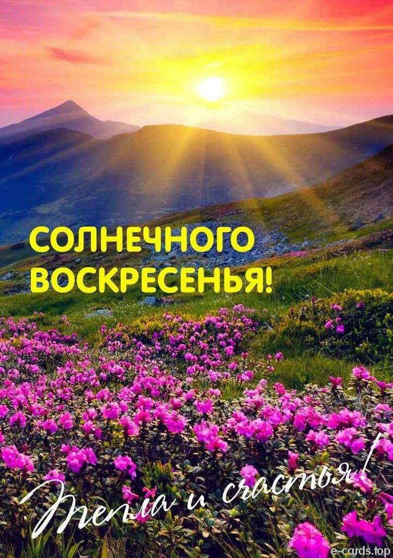 Воскресенье день чудесный открытки