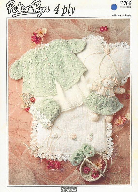 baby matinee coat set vintage baby prem knitting pattern PDF | NIÑAS ...