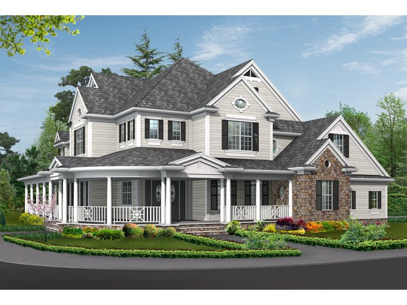 Traditional house plan front image 071s 0032 house for Traditional southern house plans