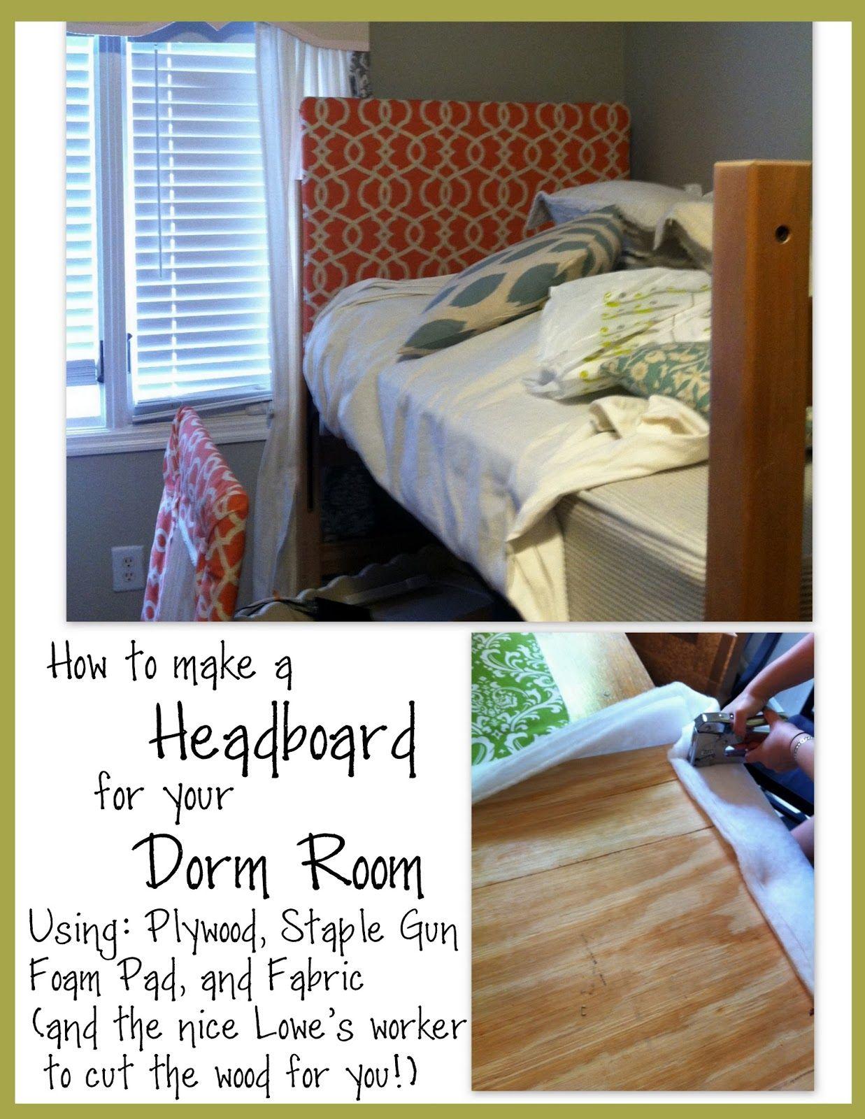 Dorm Room Headboards: Dorm Headboard Tutorial (With Images)