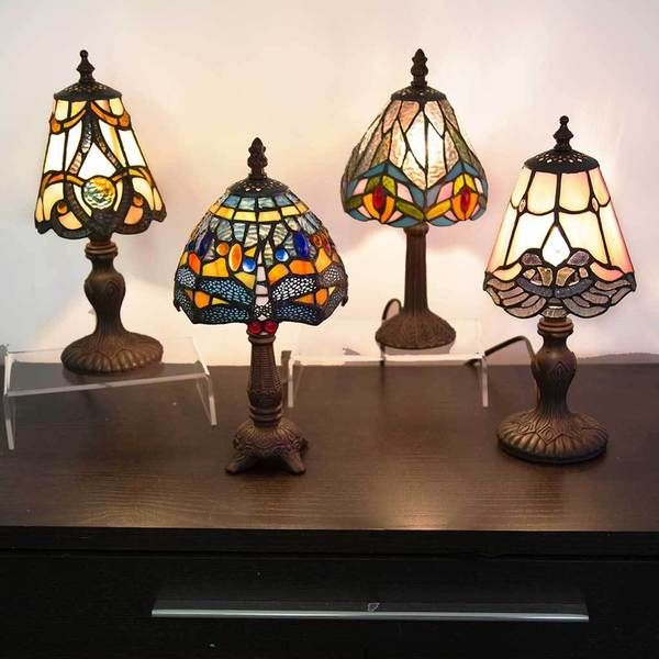 River Of Goods 12 Inch Mini Stained Glass Table Lamps Stained