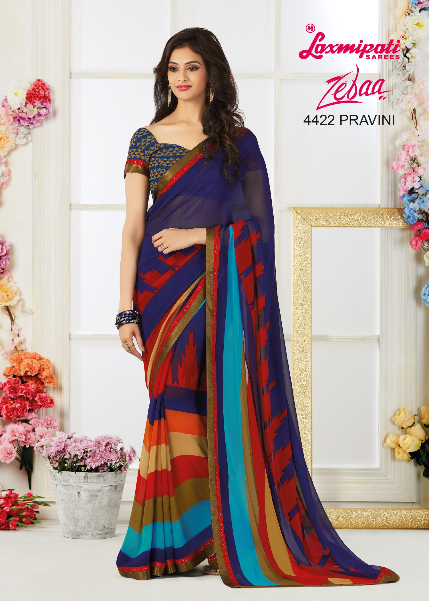 01c8f3102b Mesmerize everyone with your wonderful conventional look by draping this Multicolor  Georgette Saree with Multicolor Georgette