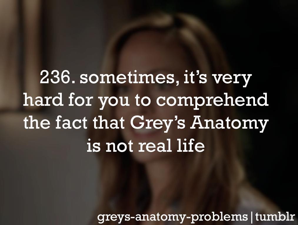 Grey\'s Anatomy Problems   Grey\'s anatomy   Pinterest   Anatomy ...