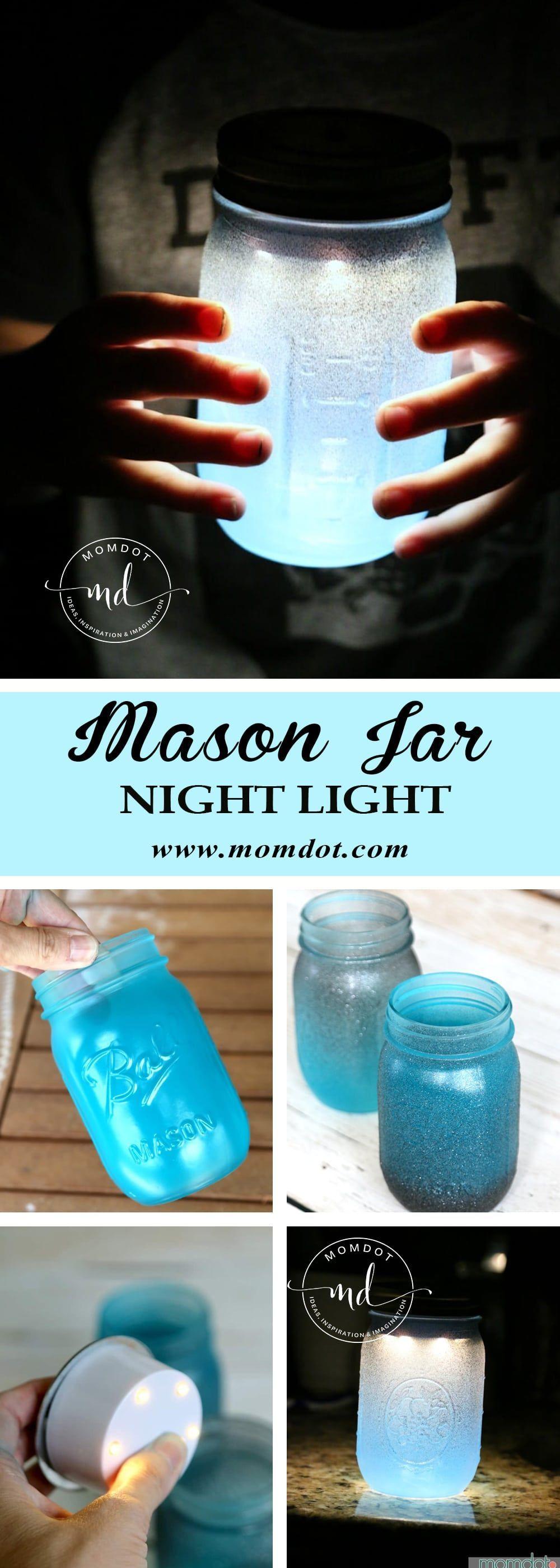 Mason Jar Night Light DIY -