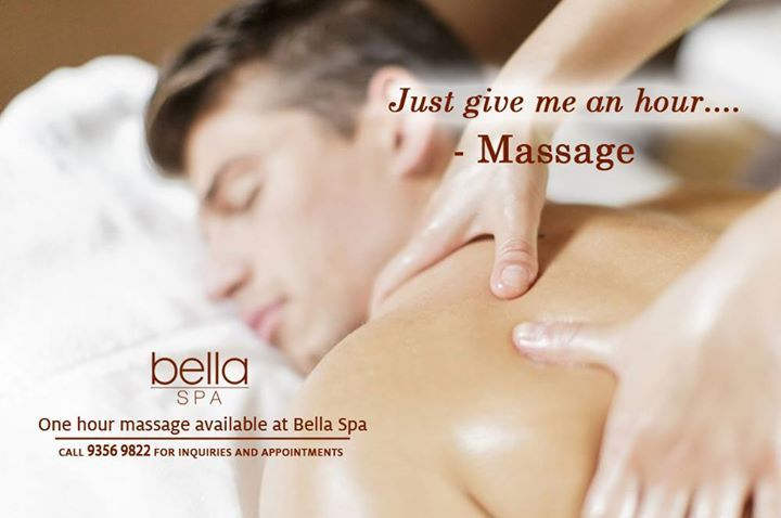 Even men needs a massage once in a while.. Book for an