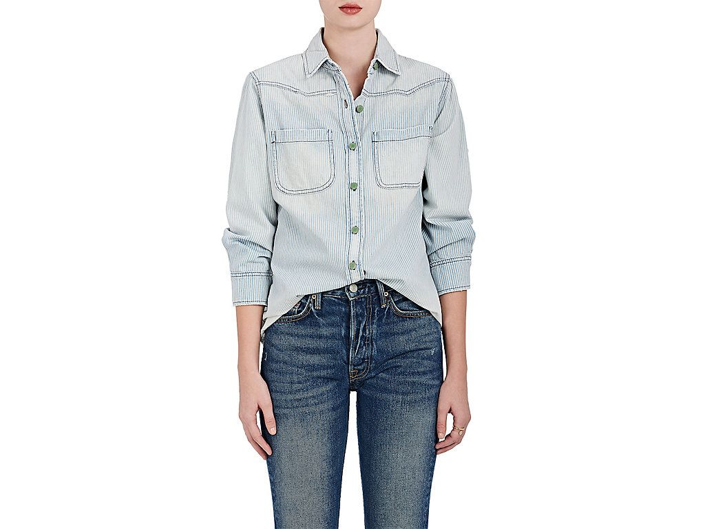 Womens Love Me Denim Boyfriend Shirt Sandrine Rose Discount Low Price Fee Shipping Clearance 2018 For Sale Online Buy Cheap Pay With Paypal Visit Cheap Online 7xYZA