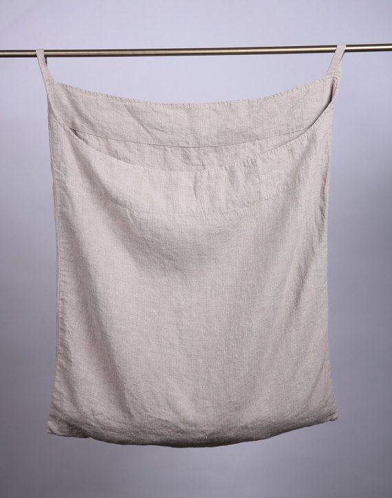 Linen Laundry Bag Linen Bag Hanging Laundry Bag Wall Laundry
