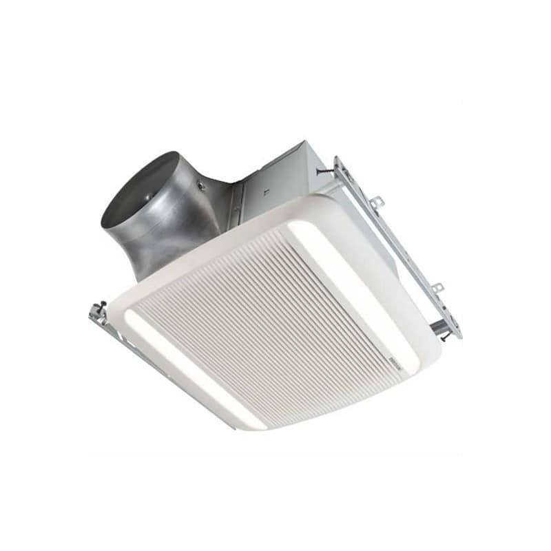 Broan Rb80l1 Ultra Pro 80 Cfm 3 Sone Ceiling Mounted Led Hvi Certified Bath Fan White Exhaust Fans Bath Fans Bathroom Exhaust Fan Energy Star Recessed Ceiling