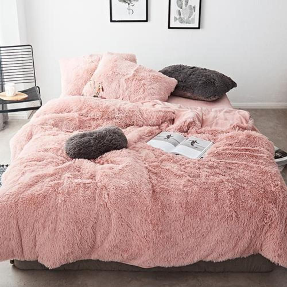 Pure Color Mink Velvet Bedding Sets Wool Fleece Velvet Bedding