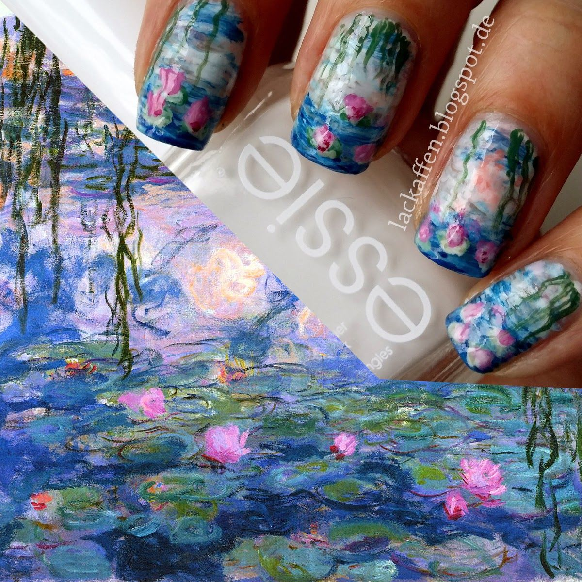 Lackaffen: Claude Monet inspired #nail #nails #nailart