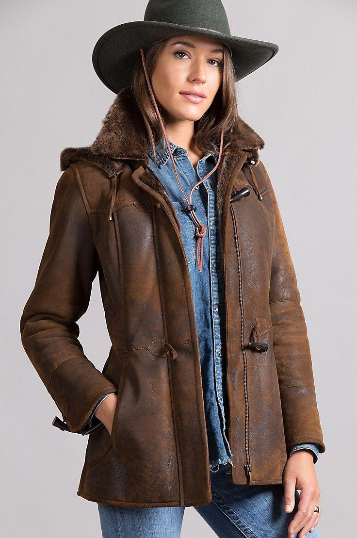 Piper Shearling Sheepskin Coat with Detachable Hood | Sheepskin ...